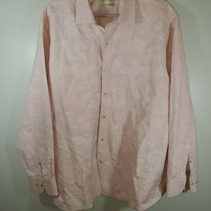 Tommy Bahama Size XL Shirt Pink Floral